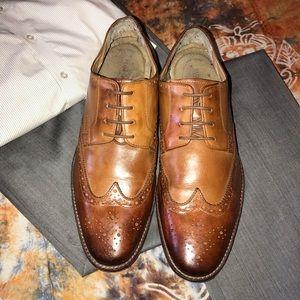 Florsheim Tan/Brown Wingtip Oxfords Shoes Sz 13D